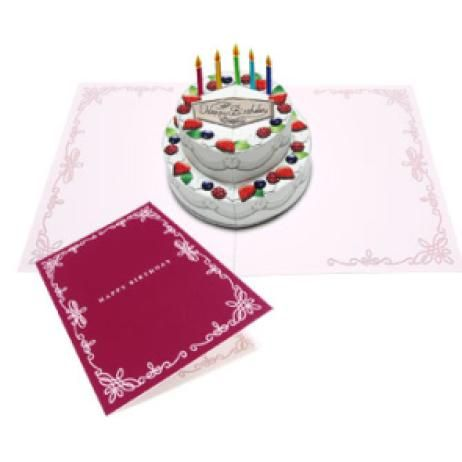 Pop-up Card (Cake),Craft Cards,Card,Wedding,multi-purpose,marriage - birthday cake card template