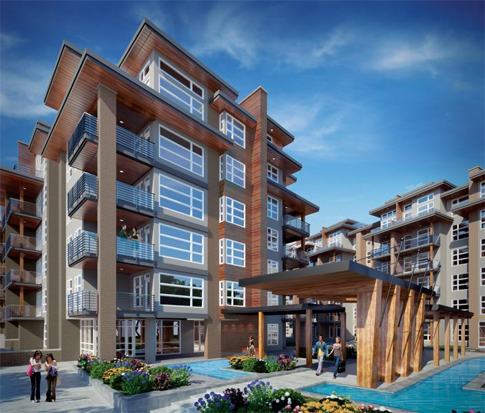 Sail 6 Storey Wood Frame Apartments West Coast Modern Inspired Architecture Vancouver Real Estate Mix Use Building Seaside Apartment