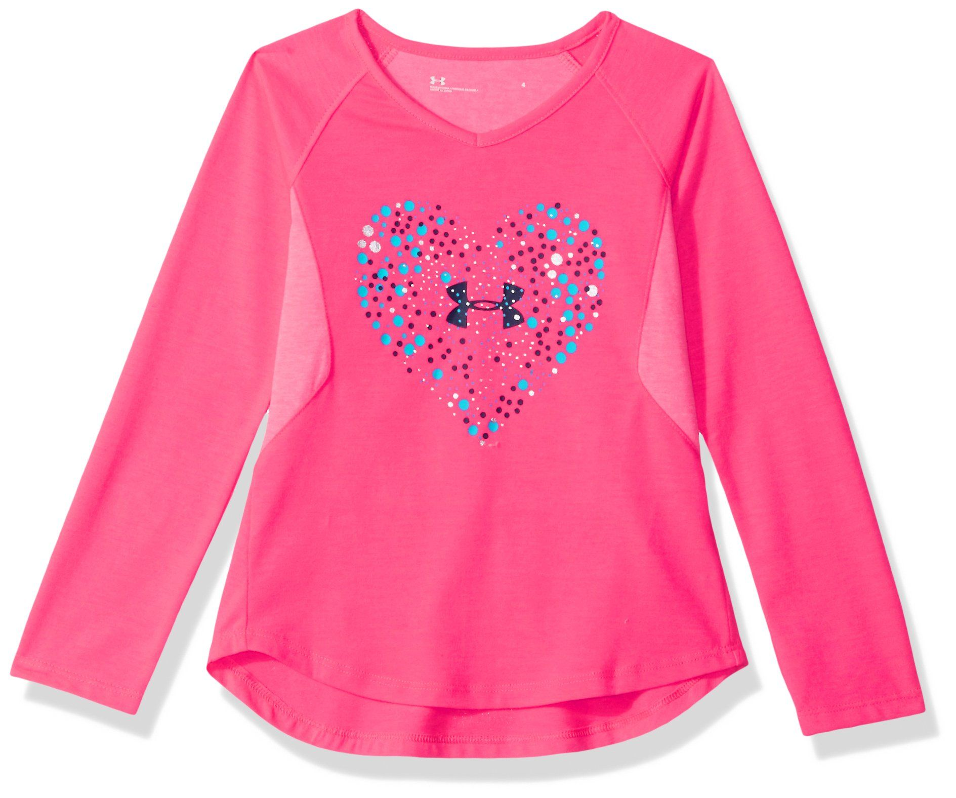 4a4600caf Under Armour Little Girls Astro Dot Heart Long Sleeve TShirt Penta ...