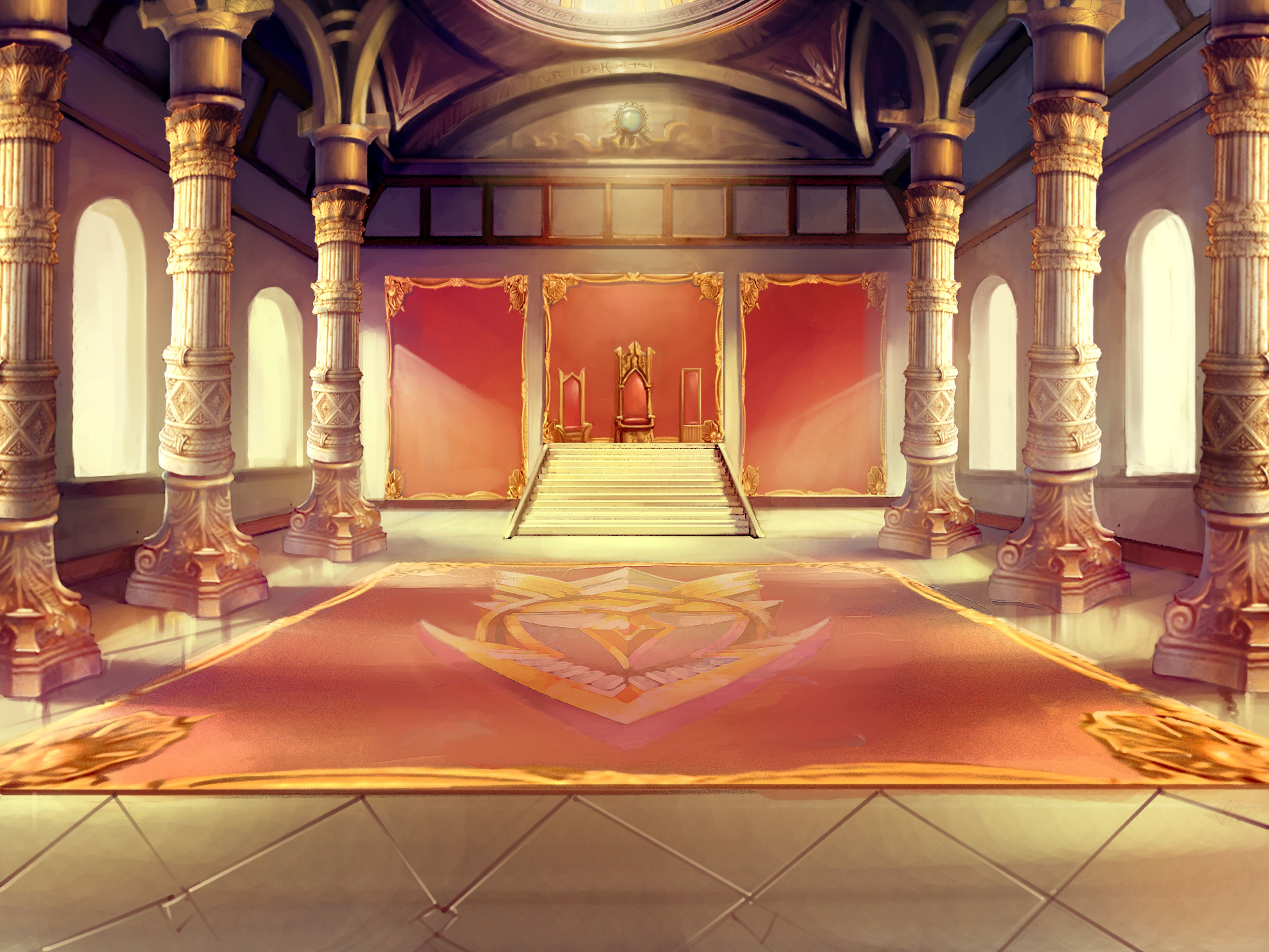Castle room background - This Concept Goes Great With The Ugly Duckling Familys Throne Room 3 Thrones And Majestic