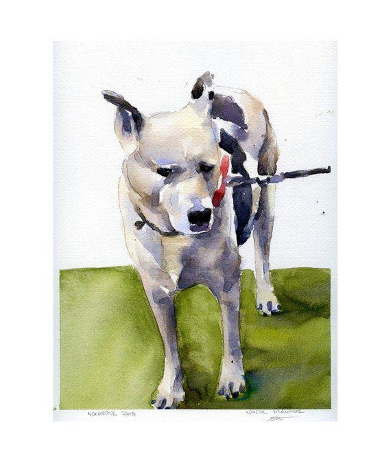 Watercolor Pet Portrait Dog Painting Custom Dog Portrait Dog