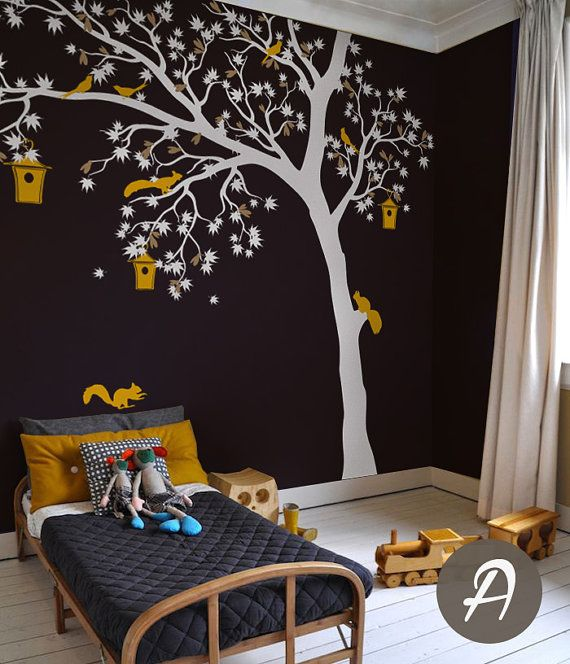 Arbre Blanc Mur Autocollant Grand Sticker Mural Pour Chambre D - Enfants decoration chambre autocollants