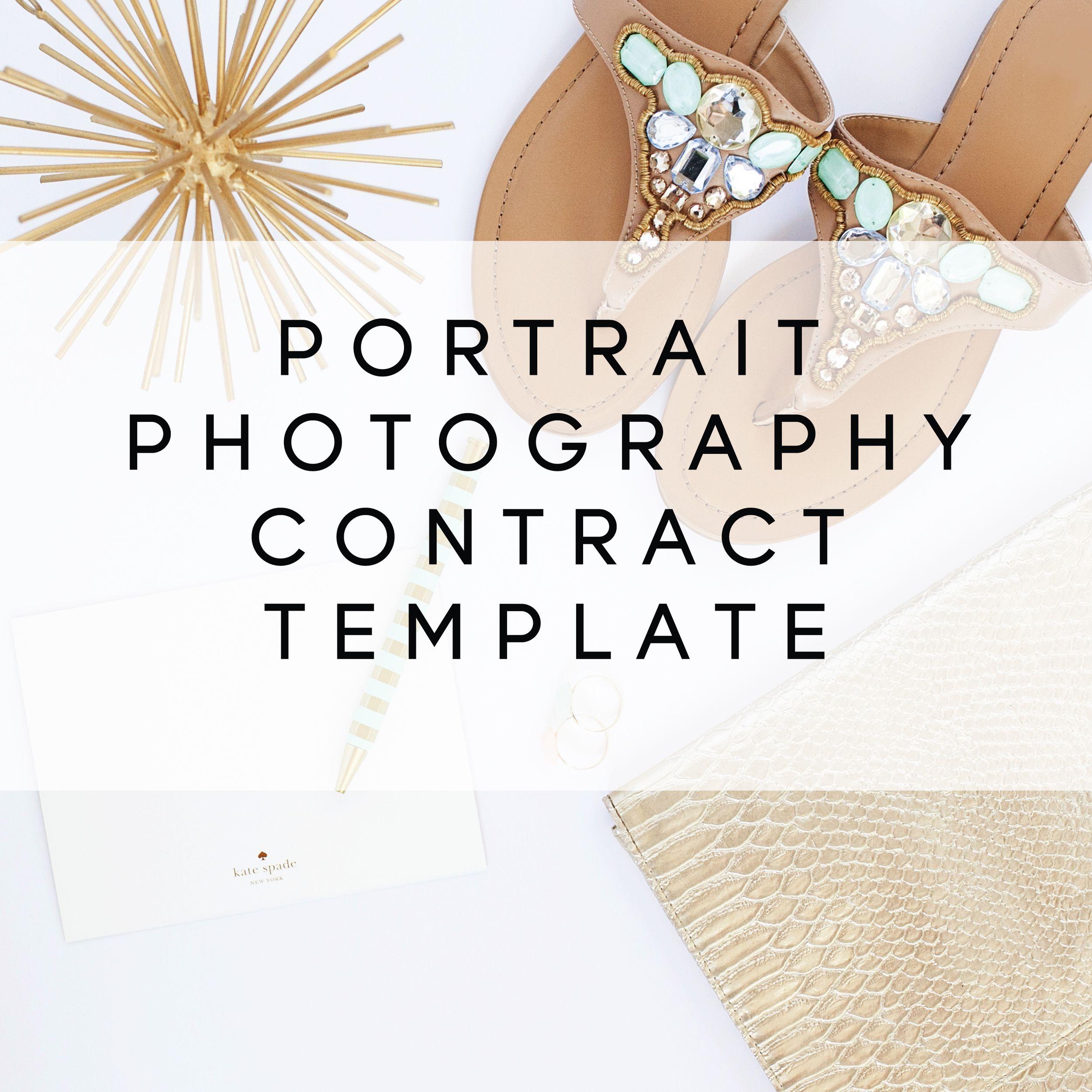 Portrait Photography Contract Template  Portrait Photography