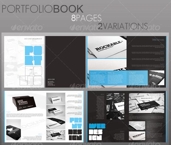 Portfolio Book Brochure Design 582×495 Portfolio Examples