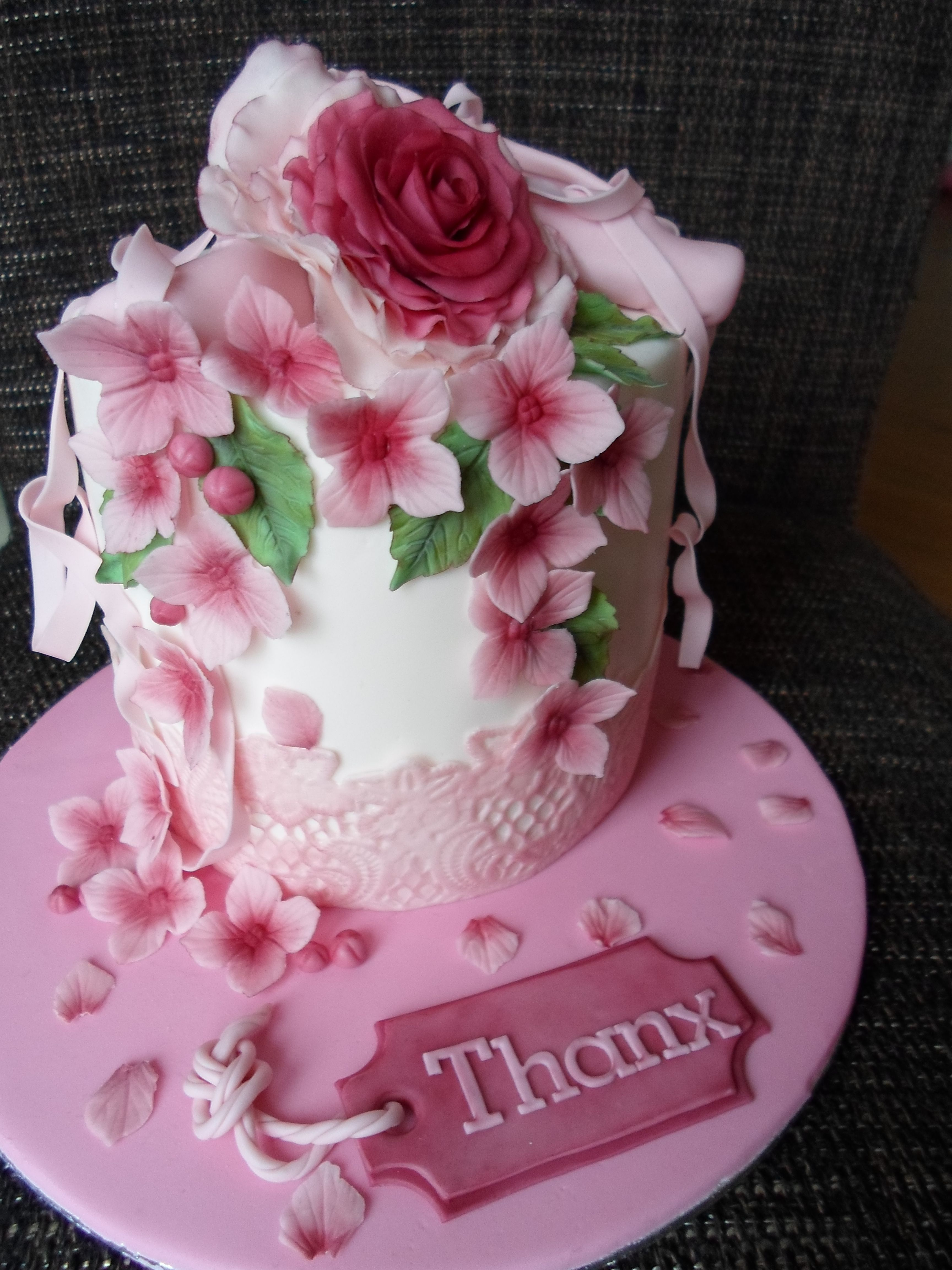 Thank U Cake With Images Heart Cake Design Ballet Cakes Pink