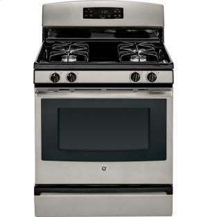 "JGBS60GEFSA in Silver by General Electric in New Castle, PA - GE® 30"" Free-Standing Gas Range"