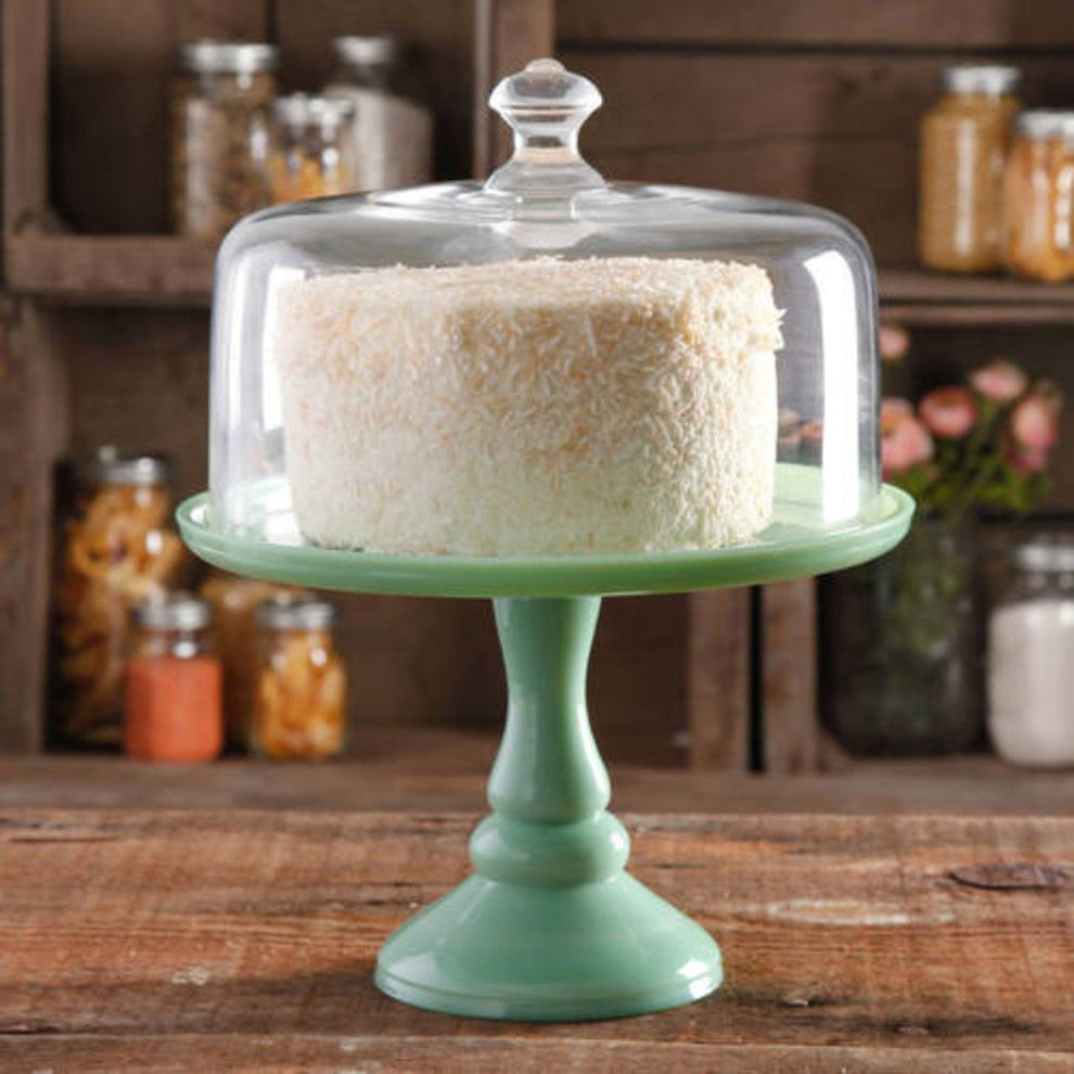 pioneer woman cake stand green