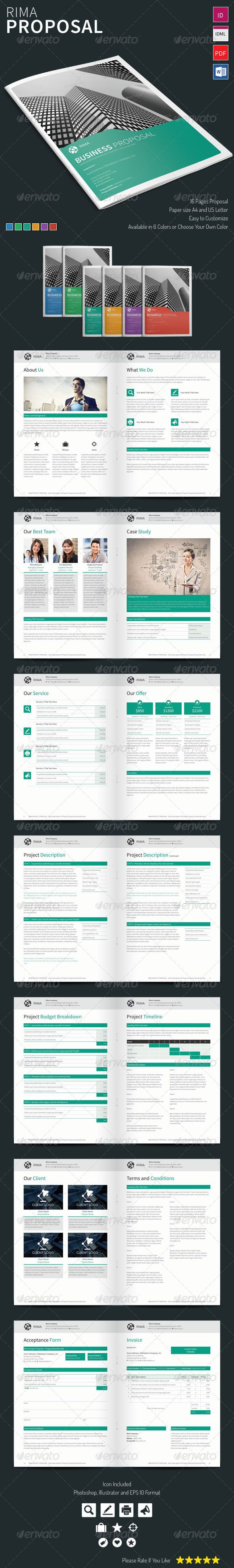 Rima  Proposal Template  Proposal Templates Ecommerce Logo And
