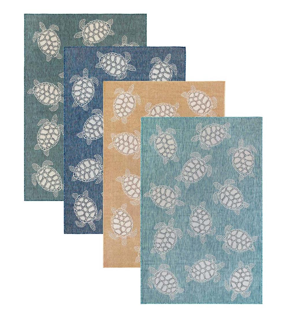 Indoor Outdoor Textured Sea Turtles Polypropylene Rug In 2020 Polypropylene Rugs Decks And Porches Indoor Outdoor