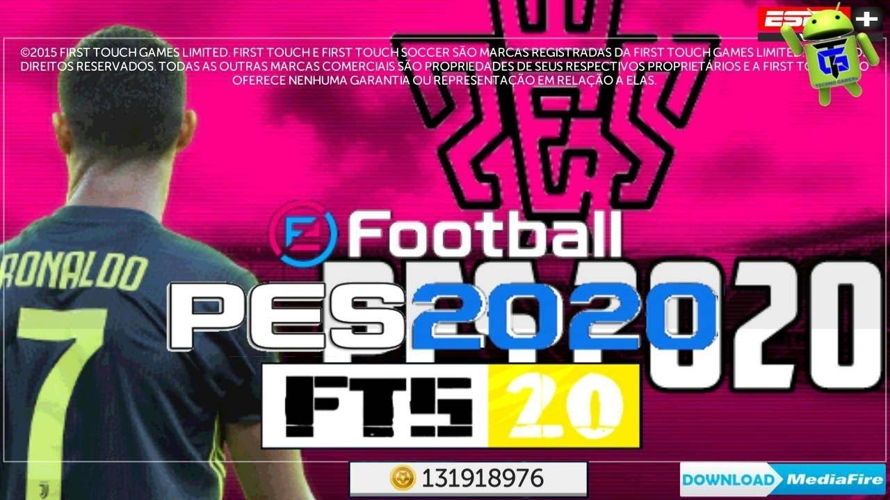 Fts Mod Pes 2020 Offline Android Apk Obb Data Download Em 2020