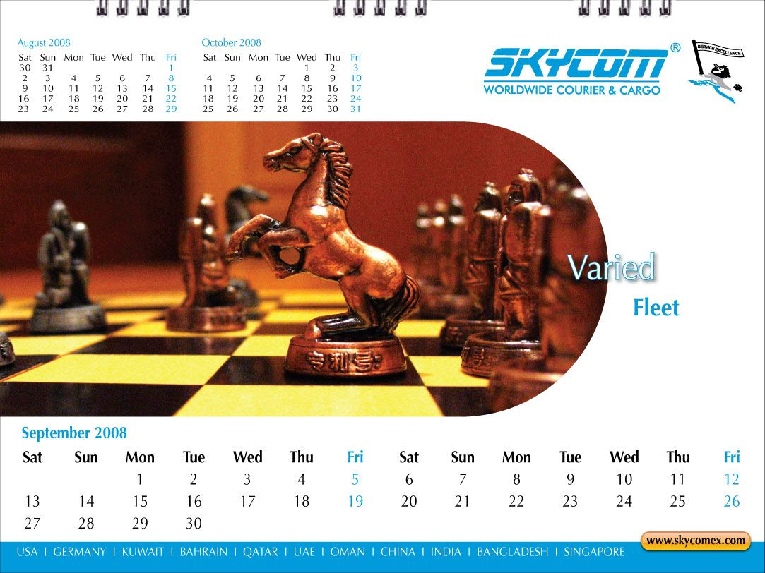 Desktop Calendar - September