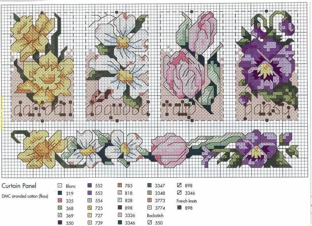 Point de Croix : Patron Fleurs7 (magnifique) dans Fleurs 080126055717178861647896 | Point de ...