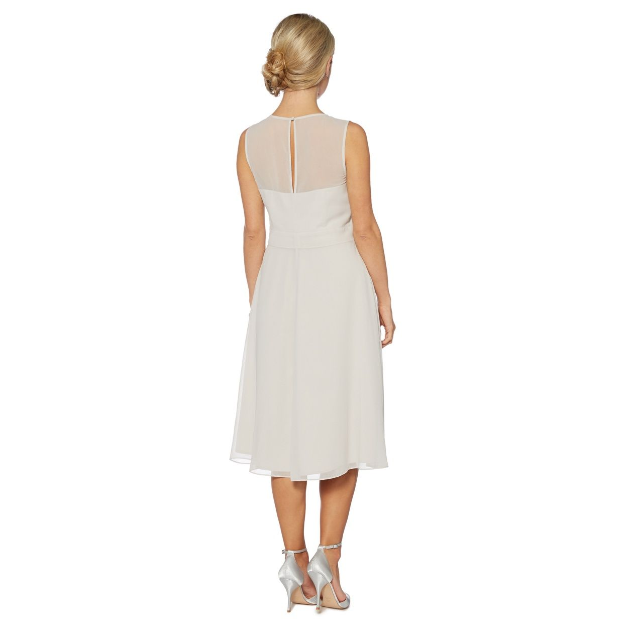 Debut silver floral embroidered waist midi dress at debenhams debut silver floral embroidered waist midi dress at debenhams bridesmaid ombrellifo Image collections