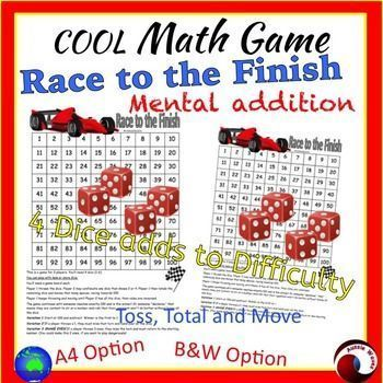 Cool Math Center Game Dice Game on 100 square Teach ADDITION and ...