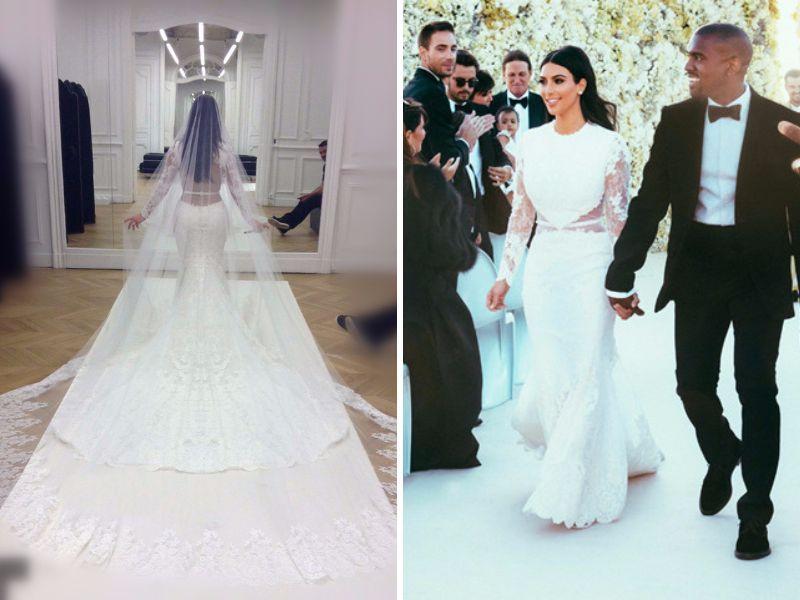 Get Inspirations From Kim Kardashian And Kanye West Wedding Kim Kardashian Wedding Dress Kim Kardashian Wedding Wedding Dresses