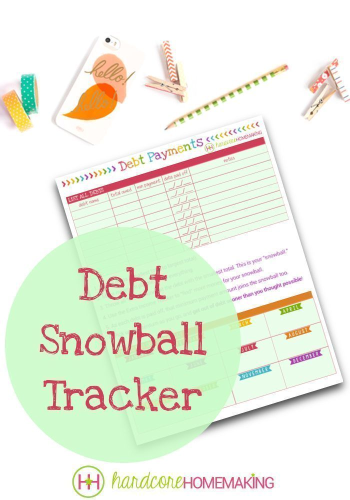 Debt Snowball Tracker printable - This Dave Ramsey style \
