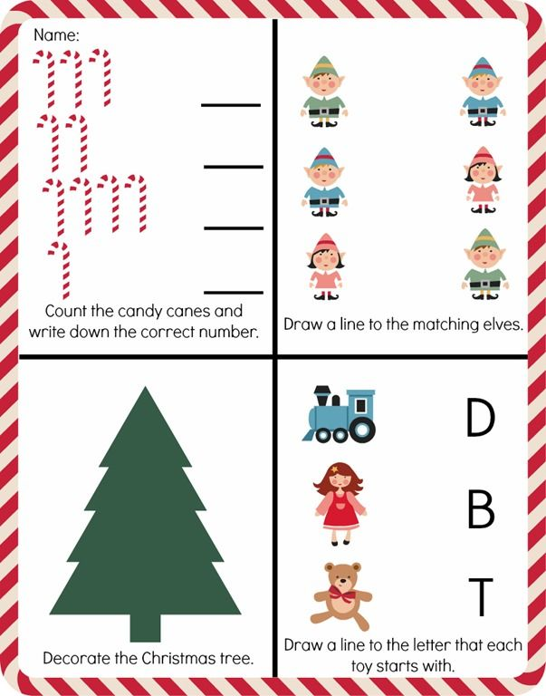 Free Pre-K Christmas Worksheet Printable Christmas Worksheets, Free  Printable Christmas Worksheets, Free Christmas Printables
