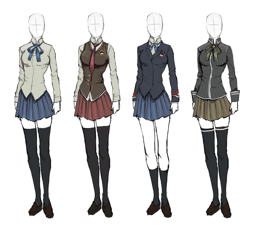 Korea School Uniform Drawing School Uniforms Anime Uniform Anime Outfits Art Clothes
