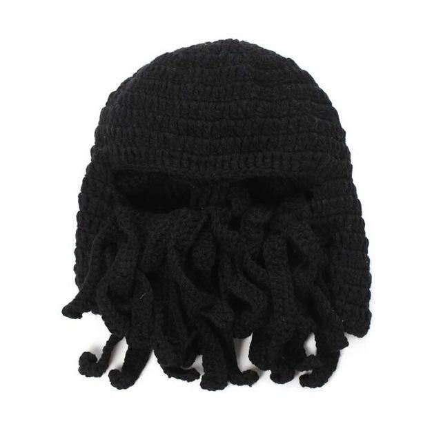Handmade Funny Animal Cthulu Beards Hats Octopus Hats caps Crocheted  Tentacle Beanies for Men and Women Halloween Birthday Gifts a8c356bc78c3
