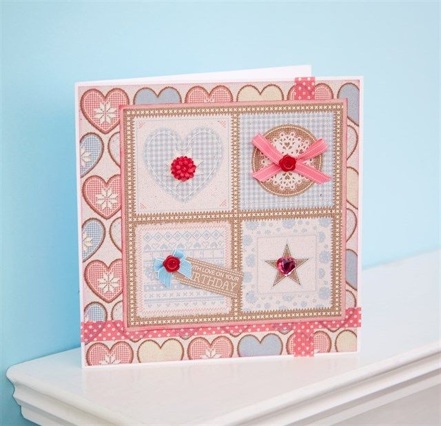 Handmade Birthday Card With A Sewing Theme Card Uses The Papermania