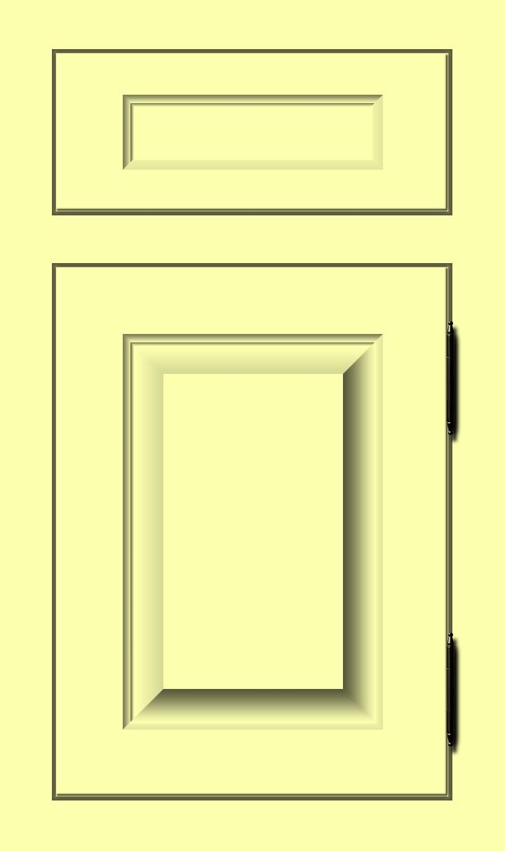 Butter \'Me | Pale yellow hue custom color cabinet door finish ...