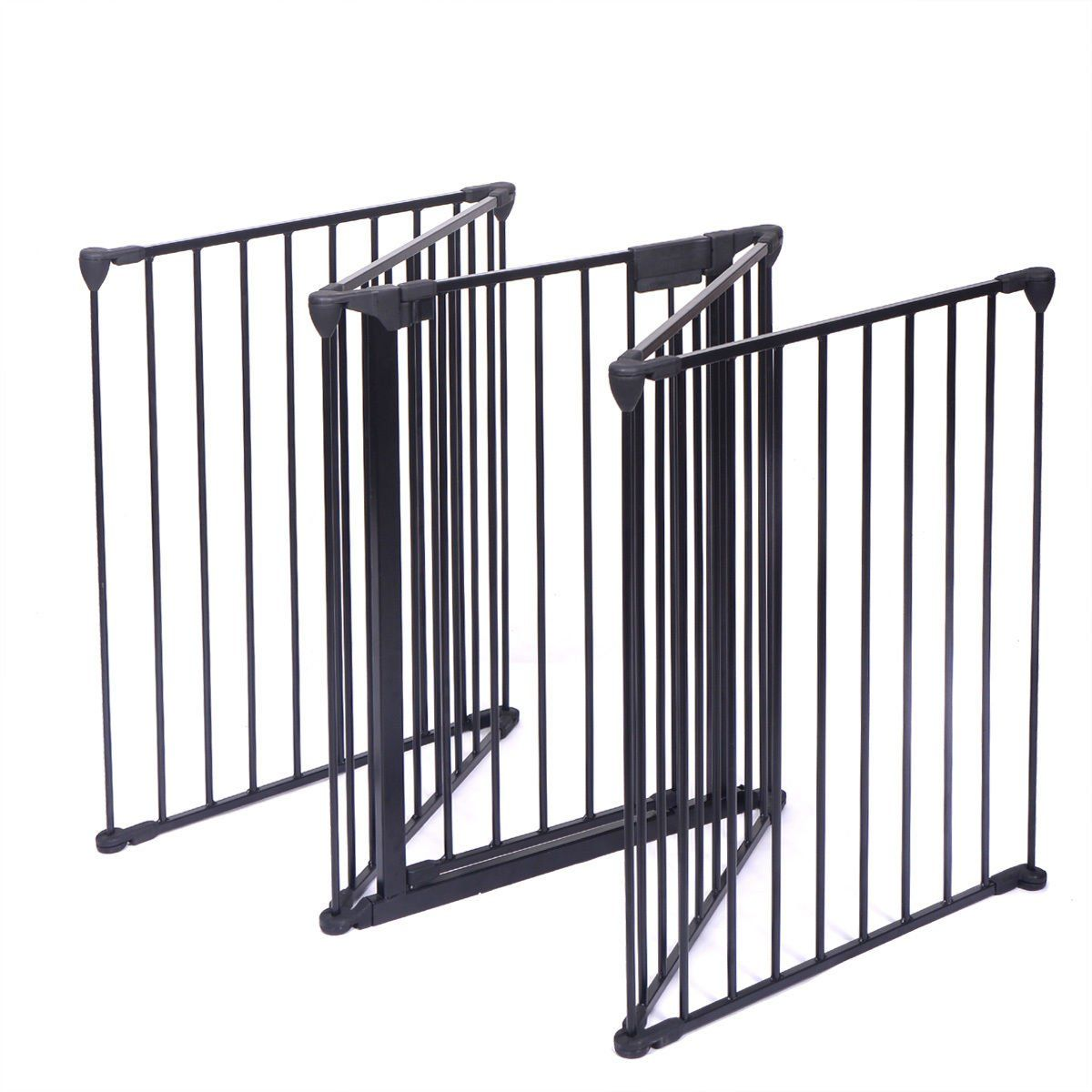 Gate Fence Fireplace Constructed Of Heavy Duty Tubular Steel For
