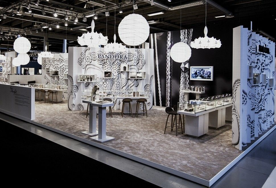 Jewelry Exhibition Booth Design : Pandora at copenhagen jewellery fair exhibition
