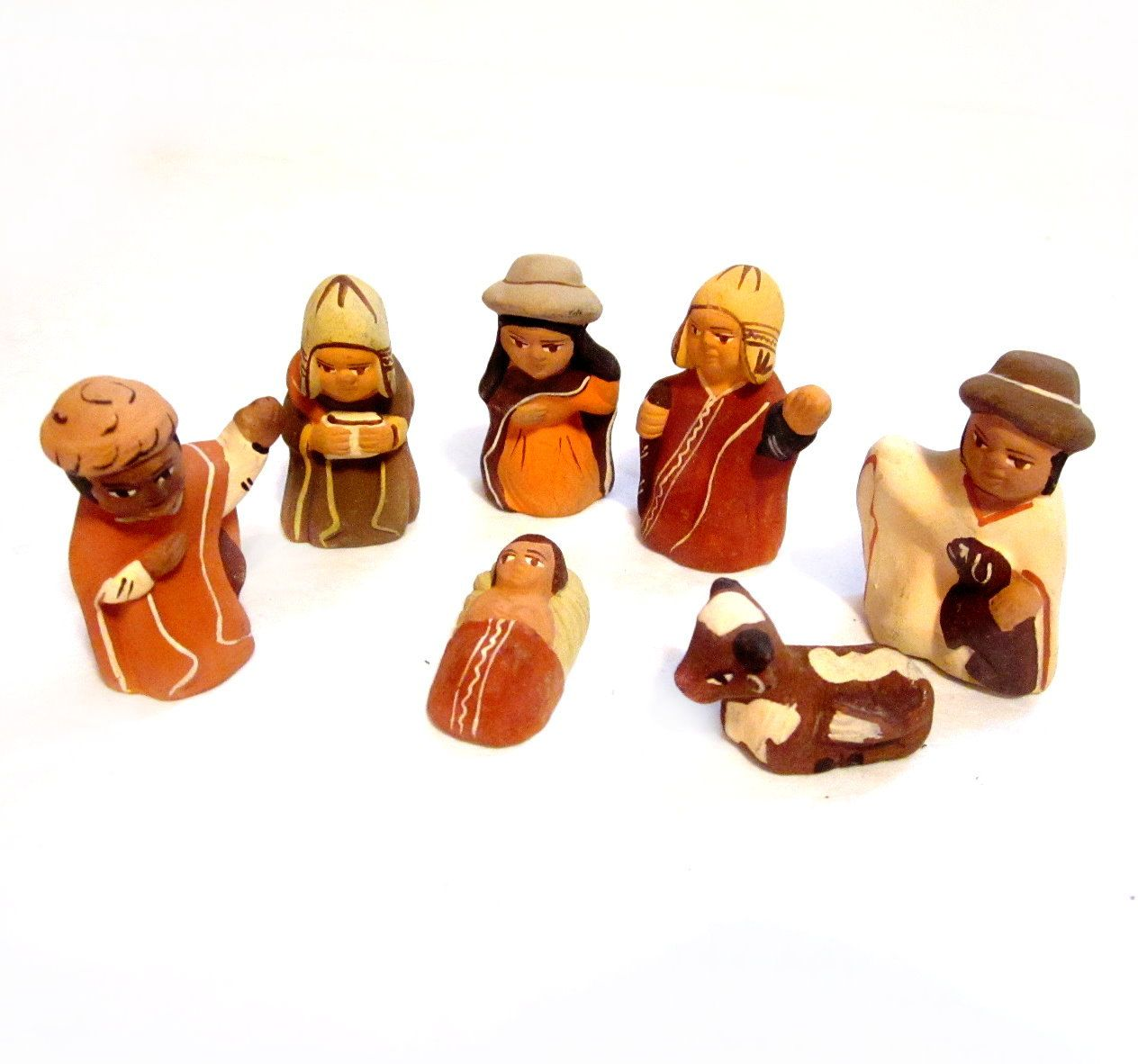 Handmade Nativity Scene Pottery Christmas Figures