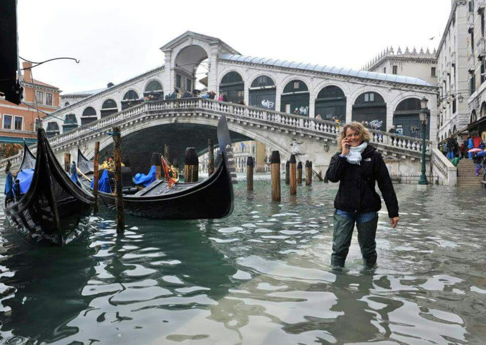 Inundación de Venecia. ...
