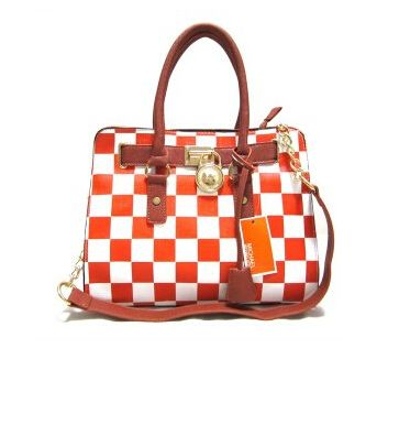 Michael Kors Hamilton Checkerboard Medium Orange Totes Outlet Online With  71% Off Sale.