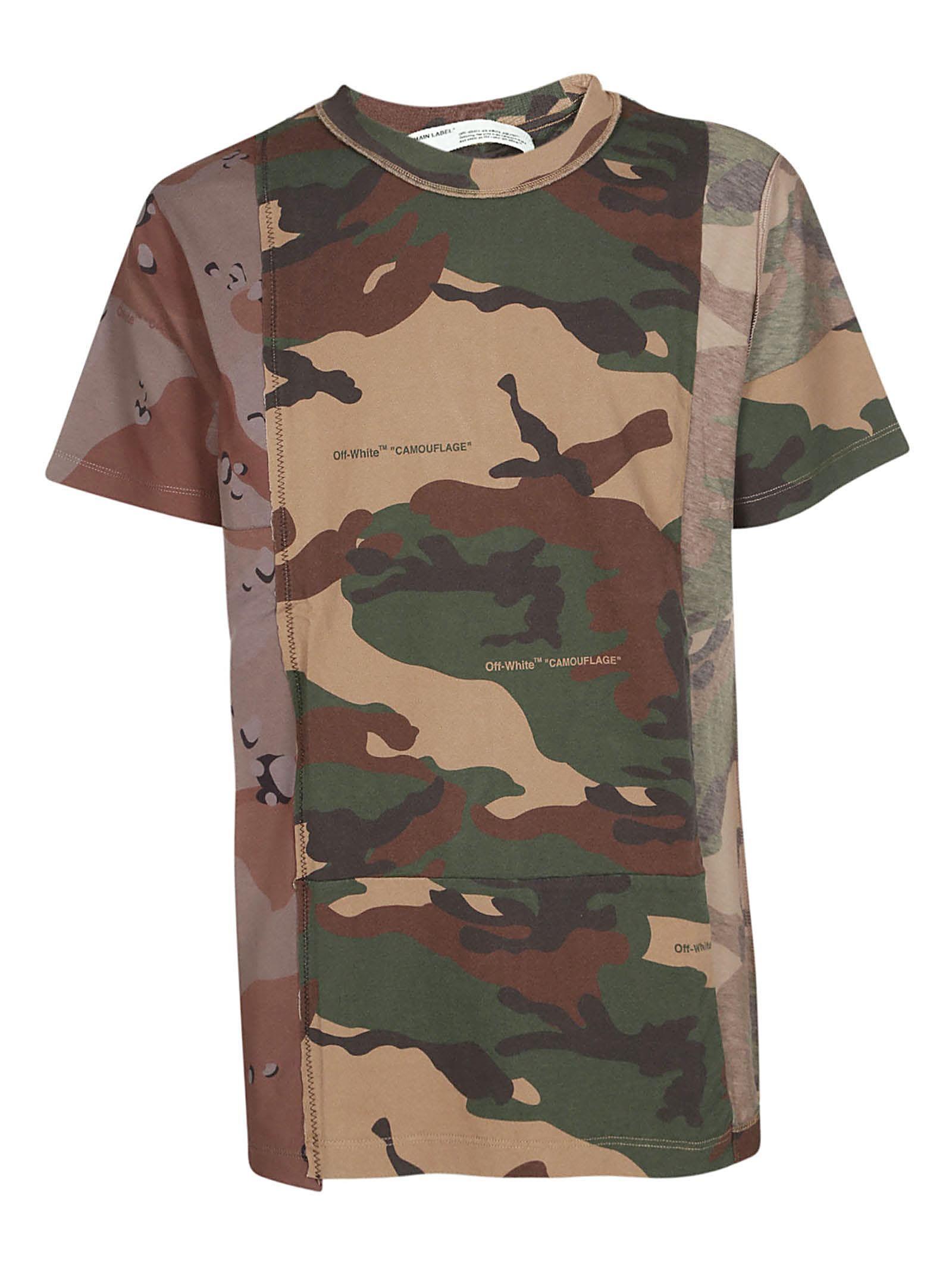 Off White Off White Camouflage Print T Shirt Off White Cloth Print T Shirt Sleeve Cotton Cotton Tshirt [ 2136 x 1600 Pixel ]