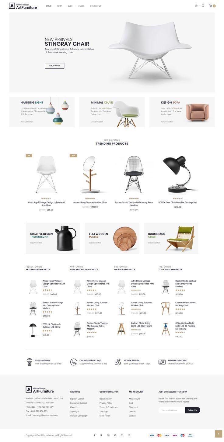 Artfurniture Furniture Theme for WooCommerce  Wordpress Minimal Theme  Trendi