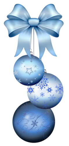 Ornament 31 Blue ChristmasMerry