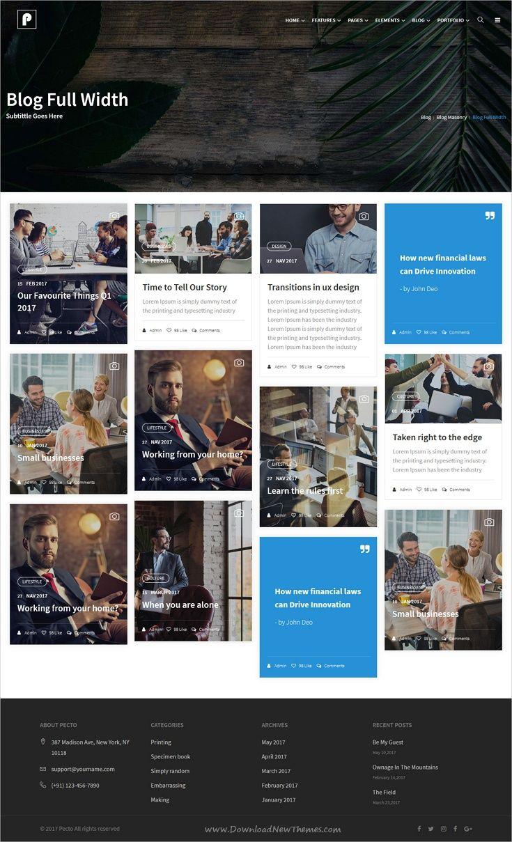 Pecto - Multipurpose HTML5 Template   Template