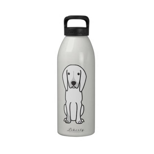 Black and Tan Coonhound Dog Cartoon Reusable Water Bottle ...