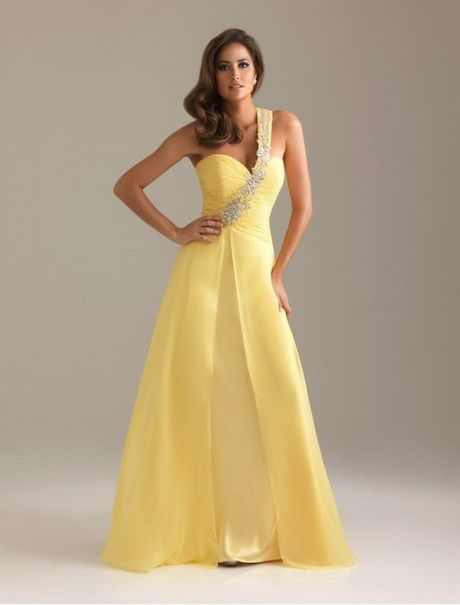 Prom Hairstyles For One Shoulder Dresses Yellow Evening Dresses Prom Night Dress Prom Dresses Short