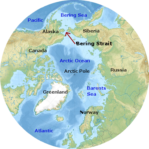 Where Is The Bering Sea Located On A World Map 8831 Infobit