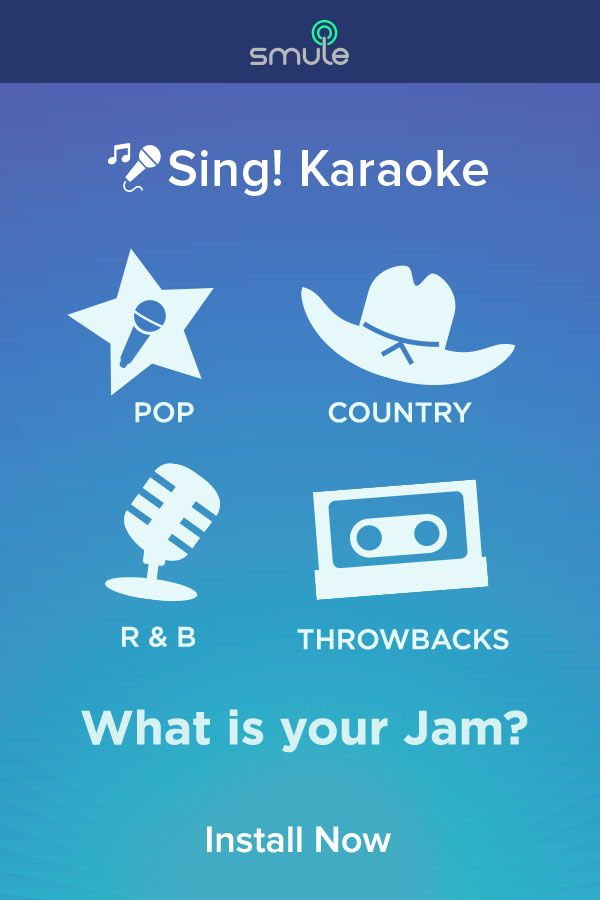 What do you feel like singing today? Check out Sing! Karaoke by Smule.