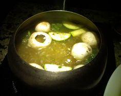 MOJO FONDUE BROTH The Melting Pot Serves 4-6 5 1/4 cups vegetable bouillon or 5 1/4 cups chicken bouillon 1/4 cup orange juice, fre... #brothfonduerecipes