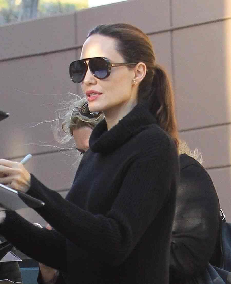 3fe8d24e4912 Angelina Jolie wearing Dior DiorLia sunglasses | Celebrity Eyewear ...