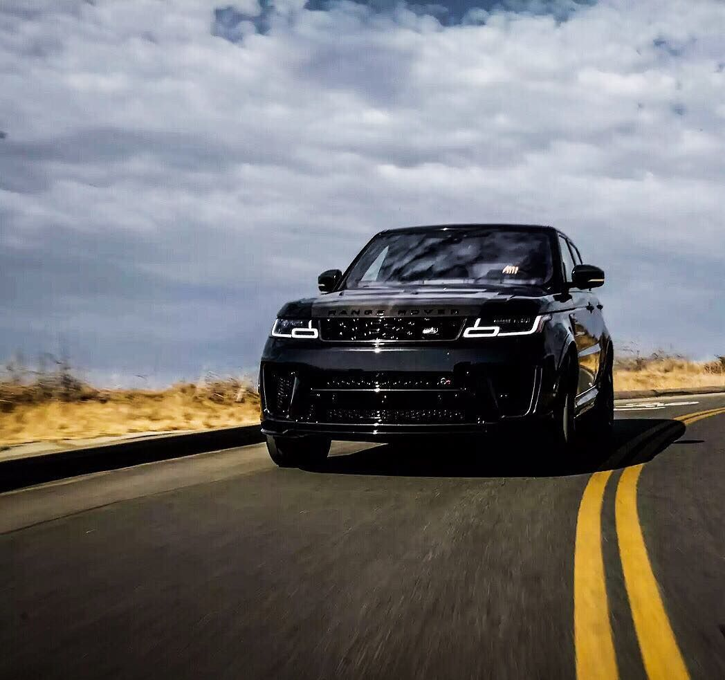sundayfunday with an all Black 2018 Range Rover Sport SVR