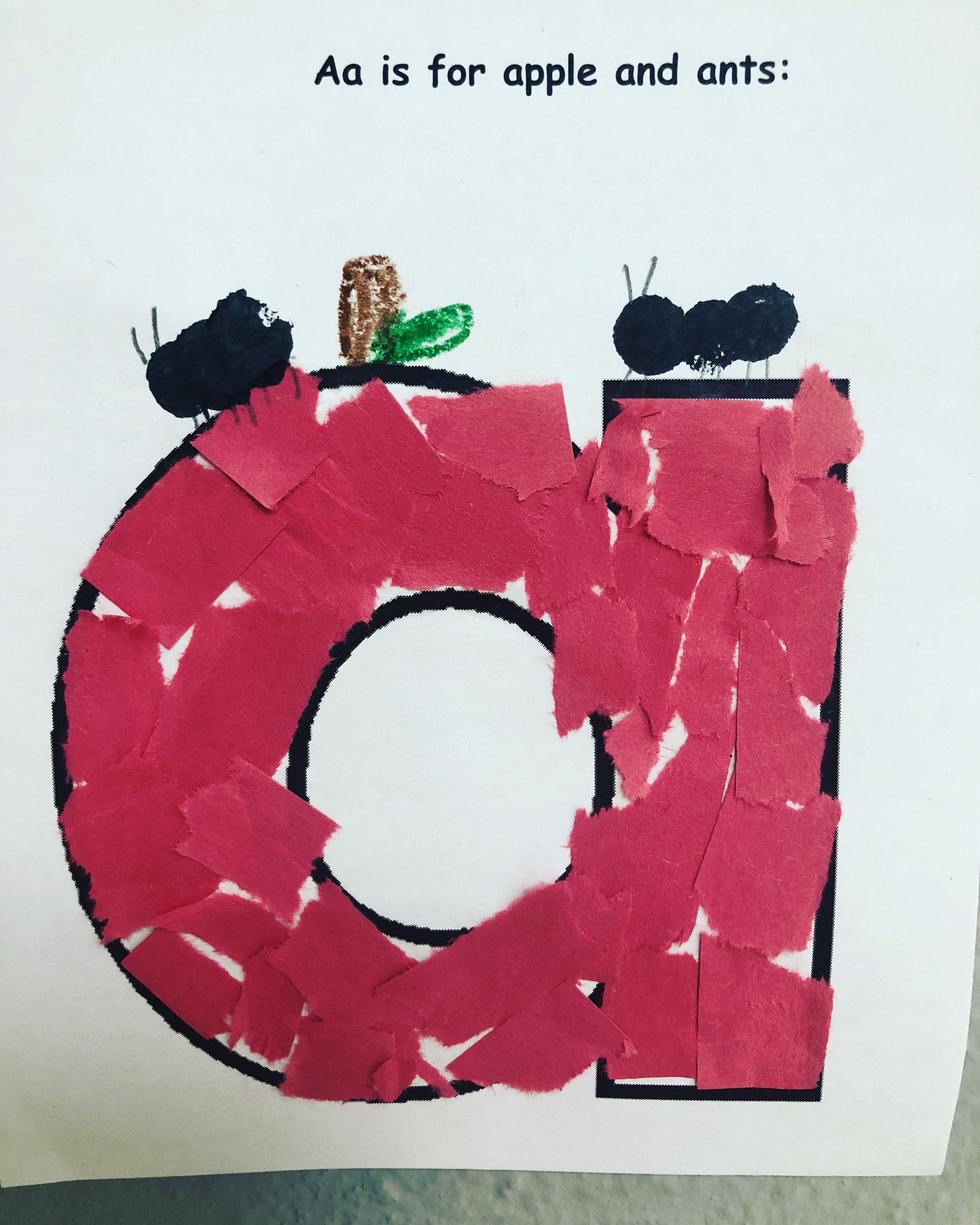 Letter Aa Craft For Preschool And Kindergarten