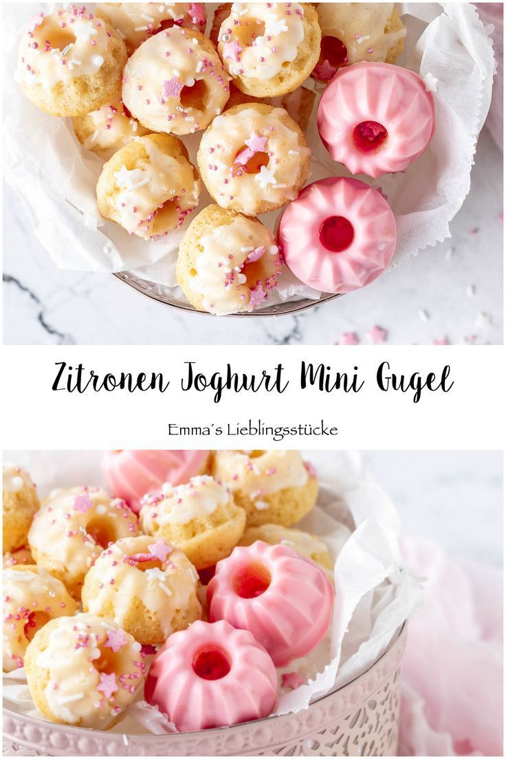 Photo of Simple recipe: juicy lemon mini yogurt gugel with and without chocolate icing …