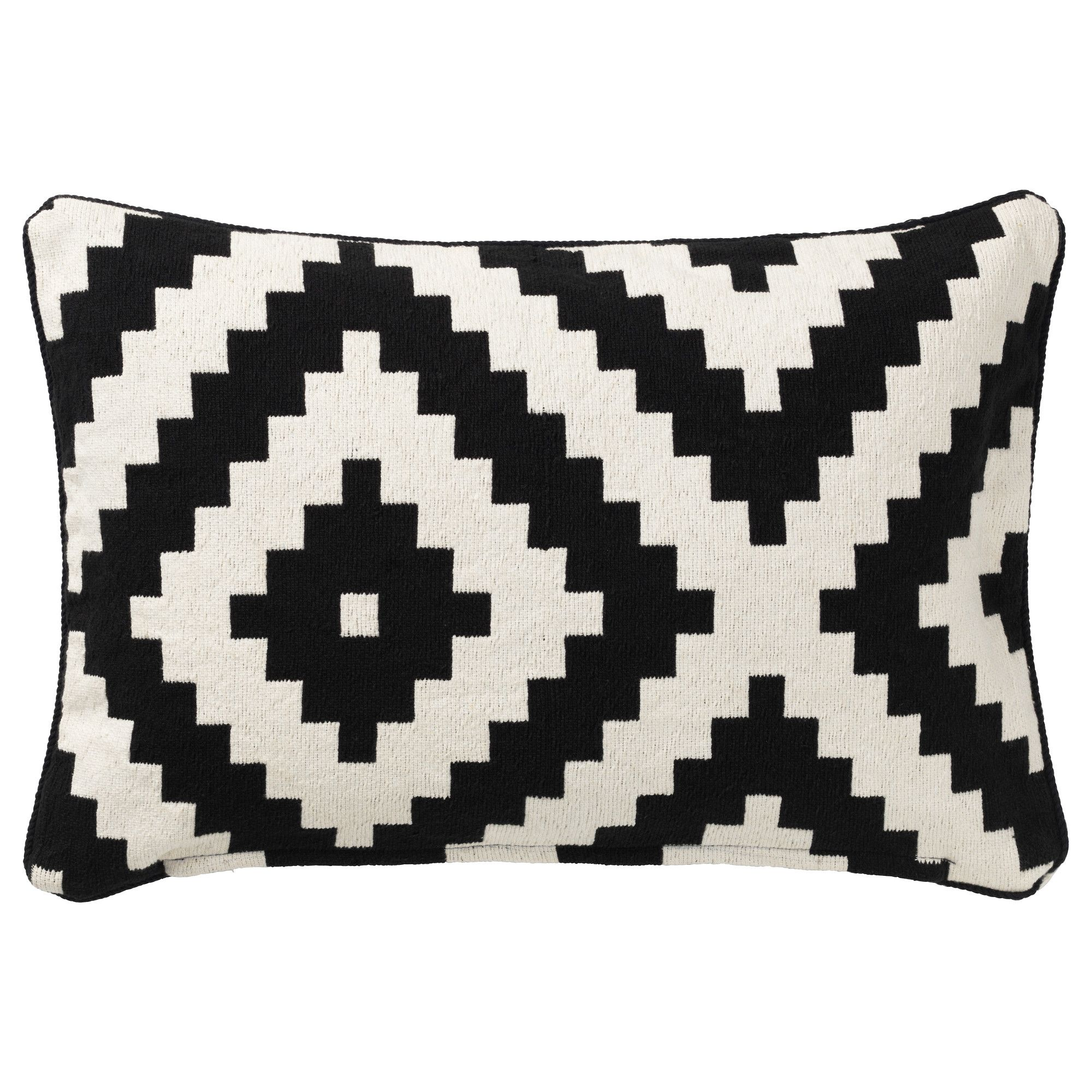 lappljung ruta cushion cover white black ikea playroom ikea