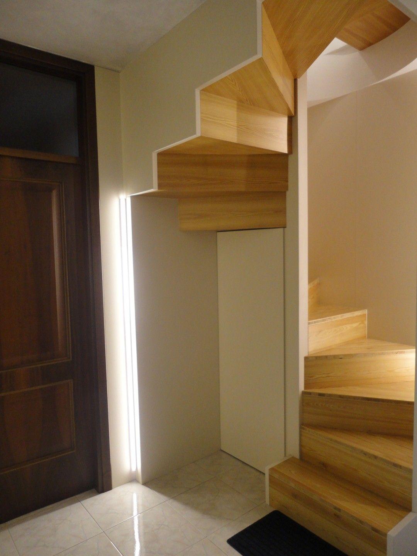 Rivestimento pedate alzate e parte inferiore scala a - Scale a parete ...