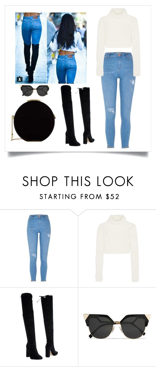 """""""Untitled #9"""" by emminna ❤ liked on Polyvore featuring River Island, Roberto Cavalli, Bianca Di, Fendi and Elie Saab"""
