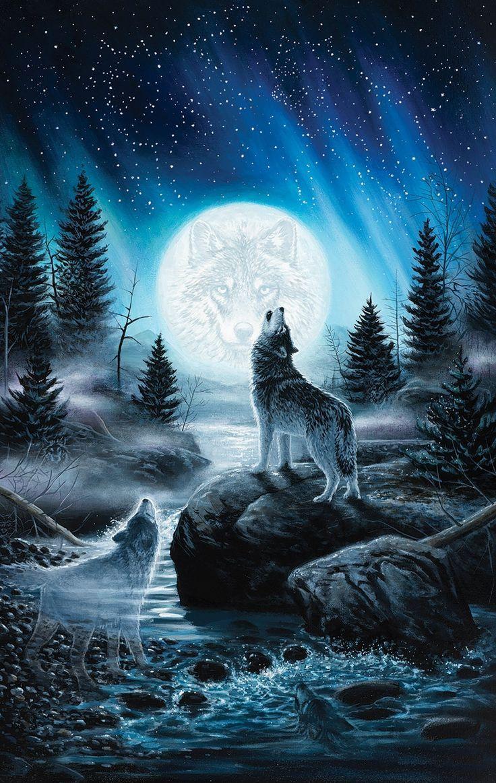 Howling Wolf Wallpaper iPhone Mireille Goulard