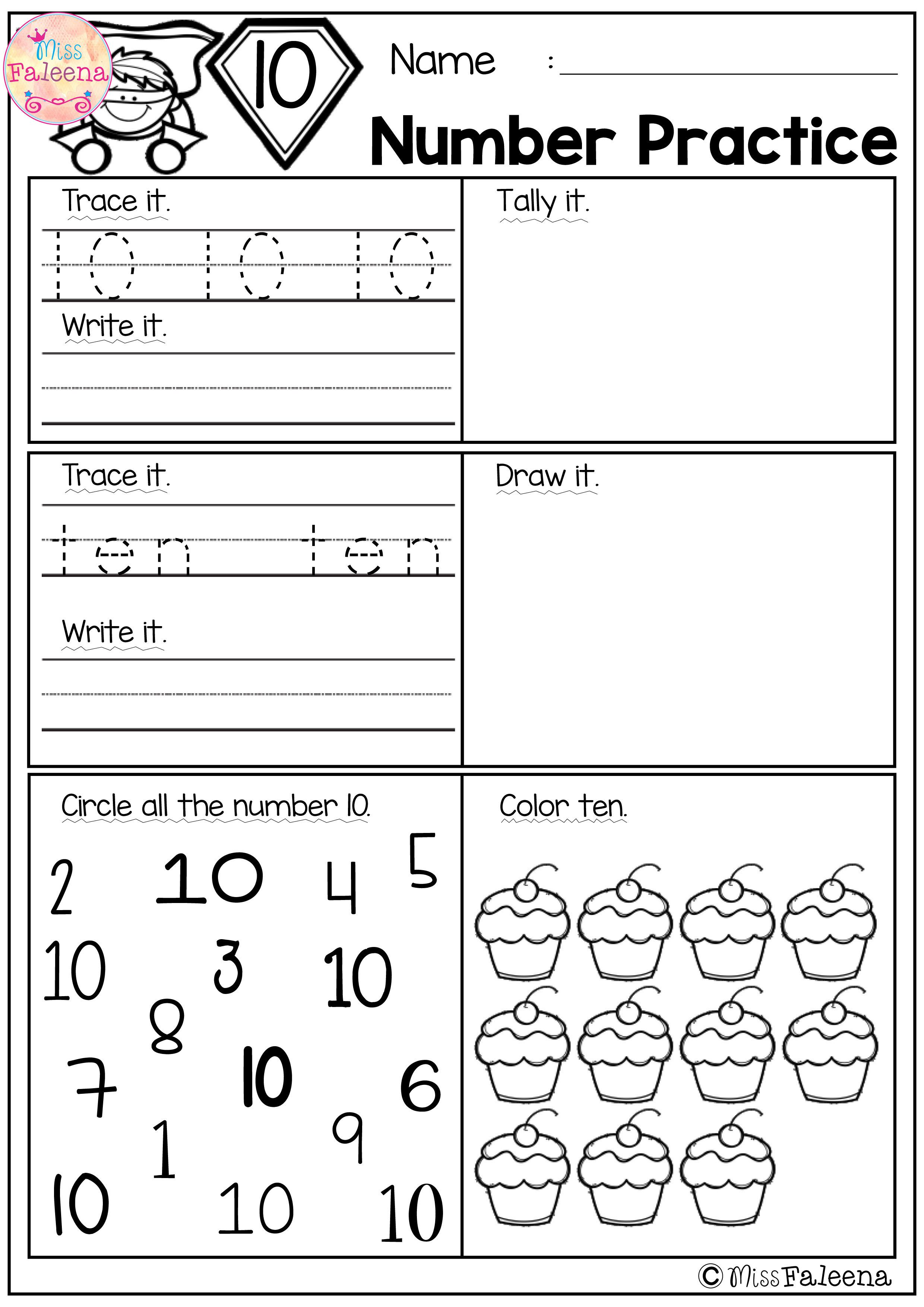 Trace, Write and Fill In Numbers 120 30 Worksheets & 3