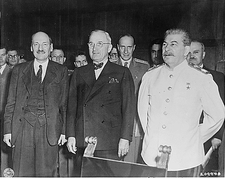 Image result for clement attlee harry truman