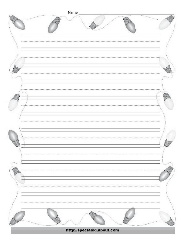 christmas writing paper free printable koni polycode co